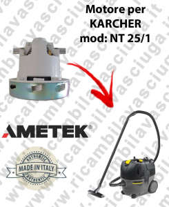 NT 25/1  Ametek Vacuum Motor for vacuum cleaner KARCHER