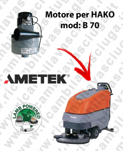 B 70 LAMB AMETEK vacuum motor for scrubber dryer HAKO