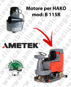 B 115R LAMB AMETEK vacuum motor for scrubber dryer HAKO