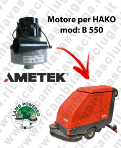 B 550 LAMB AMETEK vacuum motor for scrubber dryer HAKO