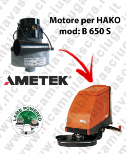 B 650 S LAMB AMETEK vacuum motor for scrubber dryer HAKO