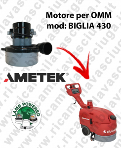 BIGLIA 430 LAMB AMETEK vacuum motor for scrubber dryer OMM