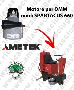 SPARTACUS 660 LAMB AMETEK vacuum motor for scrubber dryer OMM