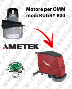 RUGBY 800 LAMB AMETEK vacuum motor for scrubber dryer OMM