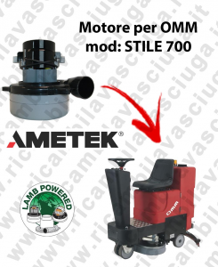 STILE 700 LAMB AMETEK vacuum motor for scrubber dryer OMM