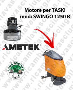 SWINGO 1250 B LAMB AMETEK vacuum motor for scrubber dryer TASKI