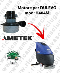 H404 M LAMB AMETEK vacuum motor for scrubber dryer DULEVO