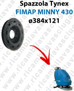 SPAZZOLA TYNEX  for scrubber dryer FIMAP MINNY 430. Model: tynex  ⌀384 X 121