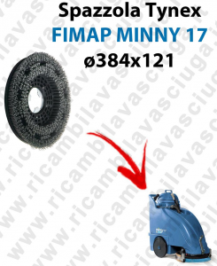 SPAZZOLA TYNEX  for scrubber dryer FIMAP MINNY 17. Model: tynex  ⌀384 X 121