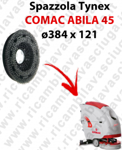 SPAZZOLA TYNEX  for scrubber dryer COMAC ABILA 45. Model: tynex  ⌀384 X 121