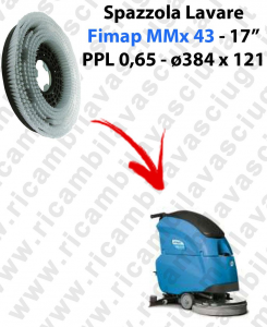 Cleaning Brush for scrubber dryer FIMAP MMX43. Model: PPL 0,65  ⌀384 X 121