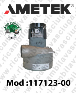Vacuum motor 117123-00 LAMB AMETEK for central vacuum system