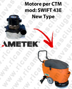SWIFT 43 E New Type Vacuum motor Synclean for scrubber dryer CTM