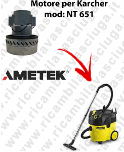 NT 651 Ametek Vacuum Motor for vacuum cleaner KARCHER
