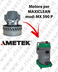 MX 590 P AMETEK vacuum motor for wet and dry vacuum cleaner MAXICLEAN