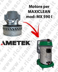 MX 590 I AMETEK vacuum motor for wet and dry vacuum cleaner MAXICLEAN