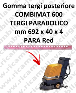 COMBIMAT 600 Back Squeegee rubber for squeegee parabolico TASKI