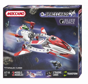 MECCANO SPACE CHAOS TITANIUM HAWK SILVER FORCE 805105