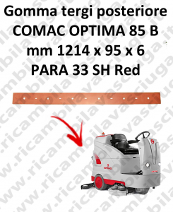 OPTIMA 85B Back Squeegee rubber for squeegee COMAC