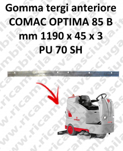 OPTIMA 85B Front Squeegee rubber for squeegee COMAC