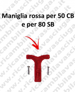 Maniglia red for 50 CB e for 80 SB