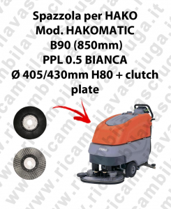 Cleaning Brush for scrubber dryer HAKO Model HAKOMATIC B90 CL (850mm)