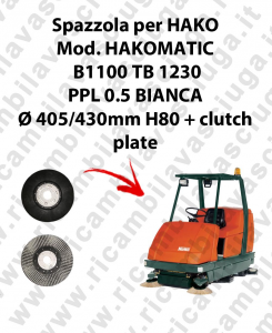 Cleaning Brush for scrubber dryer HAKO Model HAKOMATIC B1100 TB1230