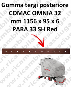 OMNIA 32 Back Squeegee rubber for squeegee COMAC