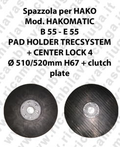 PAD HOLDER TRECSYSTEM  for scrubber dryer HAKO Model HAKOMATIC B 55 - E 55