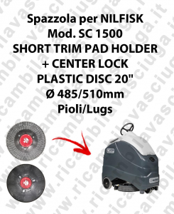 SHORT TRIM PAD HOLDER + CENTERLOCK for scrubber dryer NILFISK mod. SC 1500