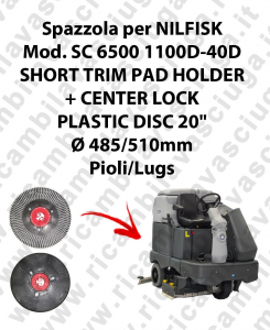 SHORT TRIM PAD HOLDER + CENTERLOCK for scrubber dryer NILFISK mod. SC 6500-40D