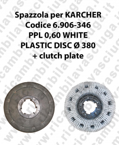 Cleaning Brush PPL 0.6 WHITE for scrubber dryer KARCHER Code 6.906-346