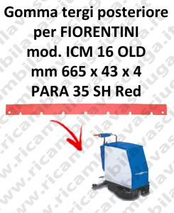 ICM 16 OLD Back Squeegee rubberfor FIORENTINI squeegee