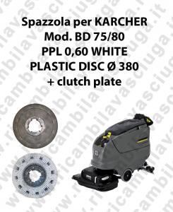 Cleaning Brush PPL 0.6 WHITE for scrubber dryer KARCHER Model BD 75/80