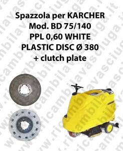 Cleaning Brush PPL 0.6 WHITE for scrubber dryer KARCHER Model BD 75/140
