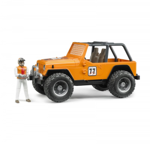 BRUDER JEEP CROSS COUNTRY RACE ARANCIO CON PILOTA 2542