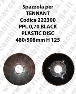Cleaning Brush PPL 0,70 BLACK for scrubber dryer TENNANT code 222300