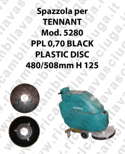 Cleaning Brush PPL 0,70 BLACK for scrubber dryer TENNANT Model 5280