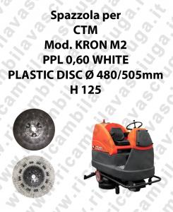 Cleaning Brush PPL 0,60 WHITE for scrubber dryer CTM Model KRON M2