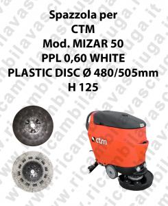 Cleaning Brush PPL 0,60 WHITE for scrubber dryer CTM Model MIZAR 50