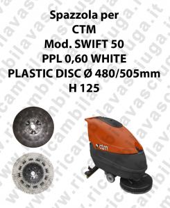 Cleaning Brush PPL 0,60 WHITE for scrubber dryer CTM Model SWIFT 50