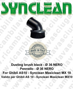 Accessories vacuum cleaner Brush ø 36 black  Valid for Ghibli AS10 - Synclean Maxiclean MX10