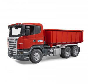 BRUDER CAMION SCANIA CON CONTAINER RIBALTABILE R-SERIES 3522