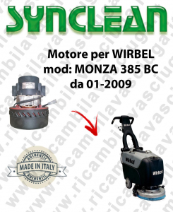 MONZA 385 BC from 01-2009 Vacuum motor Synclean for scrubber dryer WIRBEL