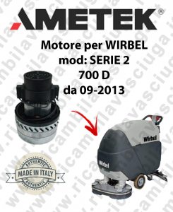 SERIE 2 700 D from 09-2013 Ametek vacuum motor for scrubber dryer WIRBEL