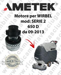 SERIE 2 650 D from 09-2013  Ametek vacuum motor for scrubber dryer WIRBEL