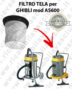 Canvas filter for vacuum cleaner GHIBLI Model AS 600