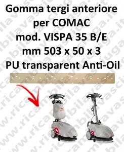 VISPA 35 B/E squeegee rubber front antiolio Comac