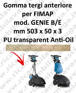 GENIE B/E squeegee rubber front antiolio Fimap