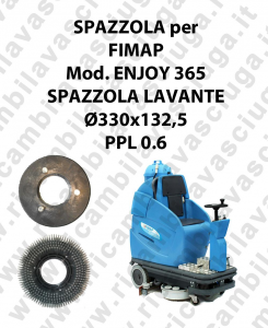 STANDARD BRUSH  for scrubber dryer FIMAP model ENJOY 365 ⌀ 330 x 132.5 PPL 0.6